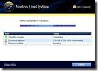 Norton LiveUpdate downloading