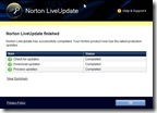 Norton LiveUpdate completed