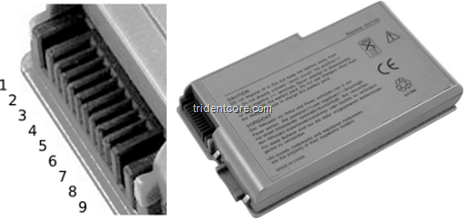 Connector_battery_dell_d500_d600_9pin